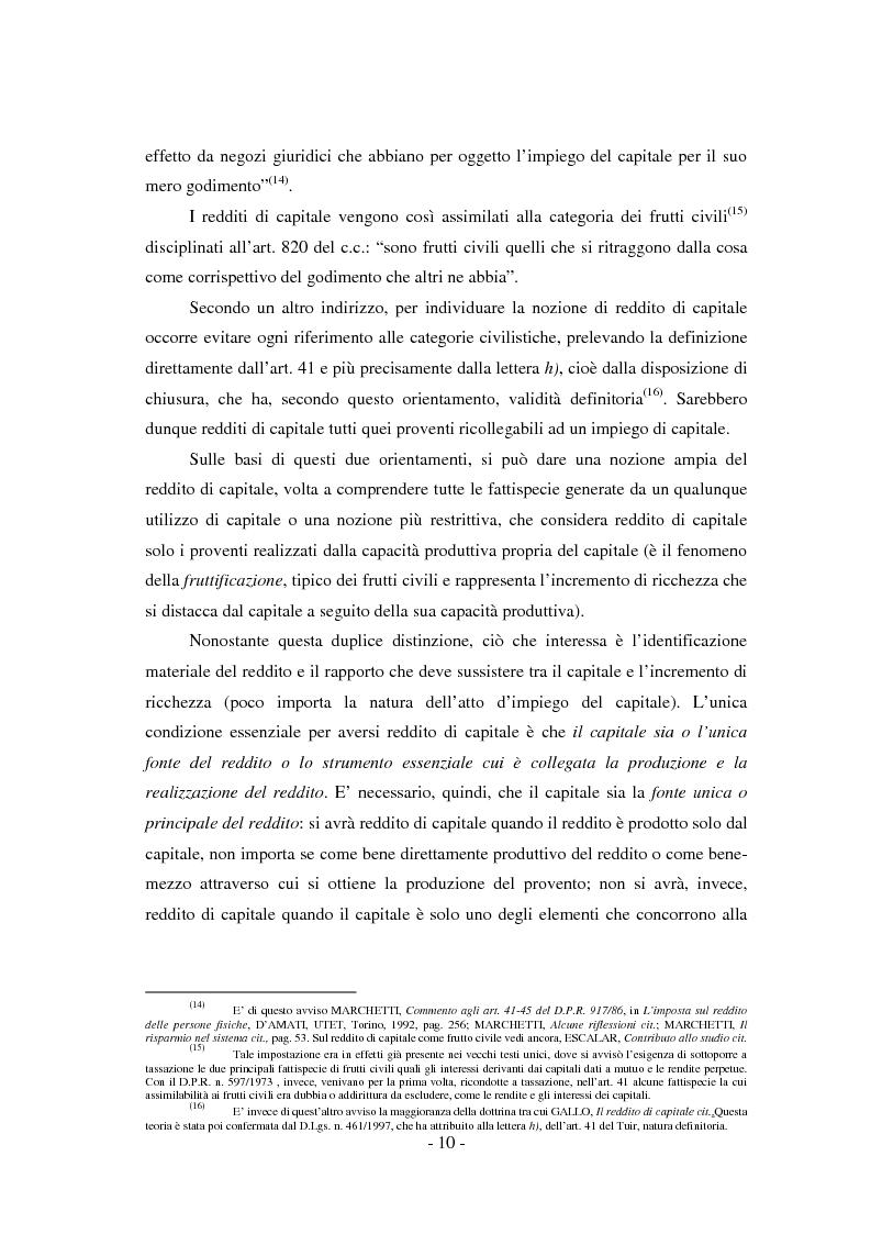 Anteprima della tesi: Il regime di tassazione delle rendite finanziarie, Pagina 10