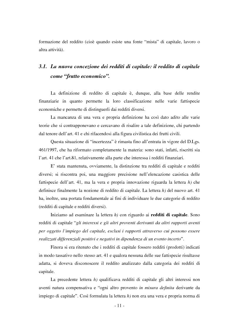 Anteprima della tesi: Il regime di tassazione delle rendite finanziarie, Pagina 11
