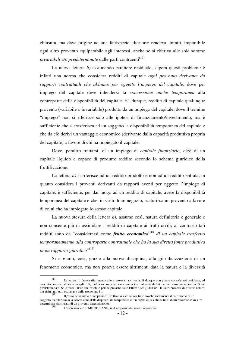 Anteprima della tesi: Il regime di tassazione delle rendite finanziarie, Pagina 12