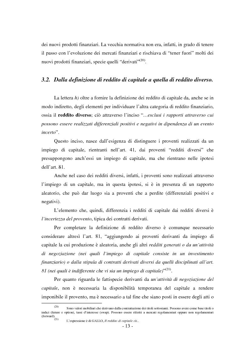 Anteprima della tesi: Il regime di tassazione delle rendite finanziarie, Pagina 13
