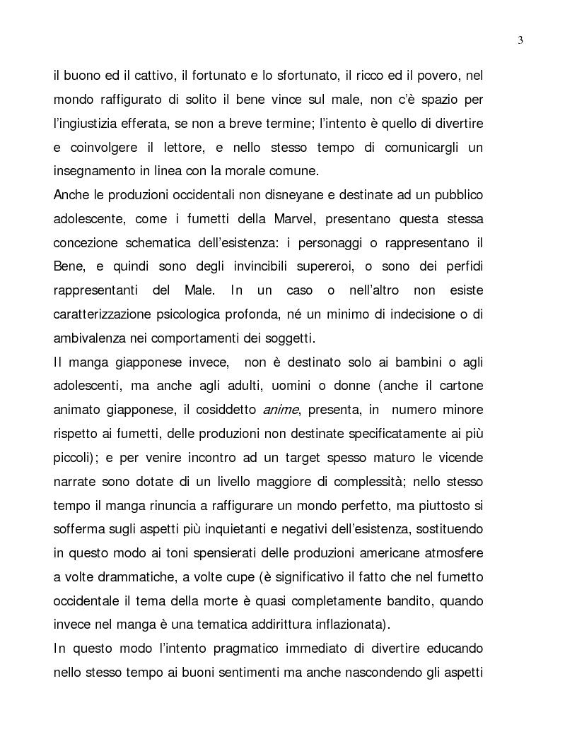 Anteprima della tesi: Lettura psicologica dei manga, Pagina 3