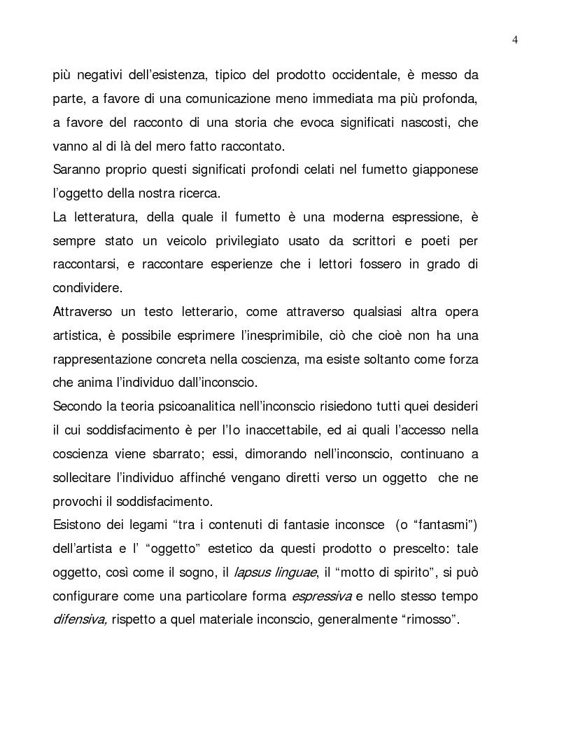Anteprima della tesi: Lettura psicologica dei manga, Pagina 4