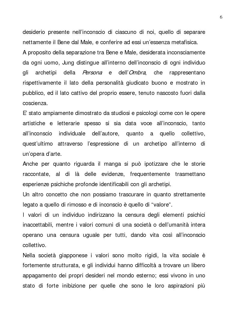 Anteprima della tesi: Lettura psicologica dei manga, Pagina 6