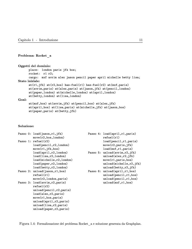 Anteprima della tesi: Generazione ed adattamento di piani attraverso grafi di pianificazione: sviluppo e sperimentazione di algoritmi basati su ricerca locale e backtracking, Pagina 11