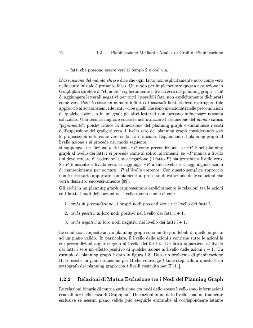 Anteprima della tesi: Generazione ed adattamento di piani attraverso grafi di pianificazione: sviluppo e sperimentazione di algoritmi basati su ricerca locale e backtracking, Pagina 12