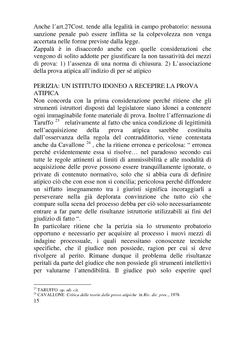 Anteprima della tesi: Ammissibilità ed efficacia probatoria dei nuovi mezzi di indagine processuale imposti dal progresso scientifico, Pagina 10