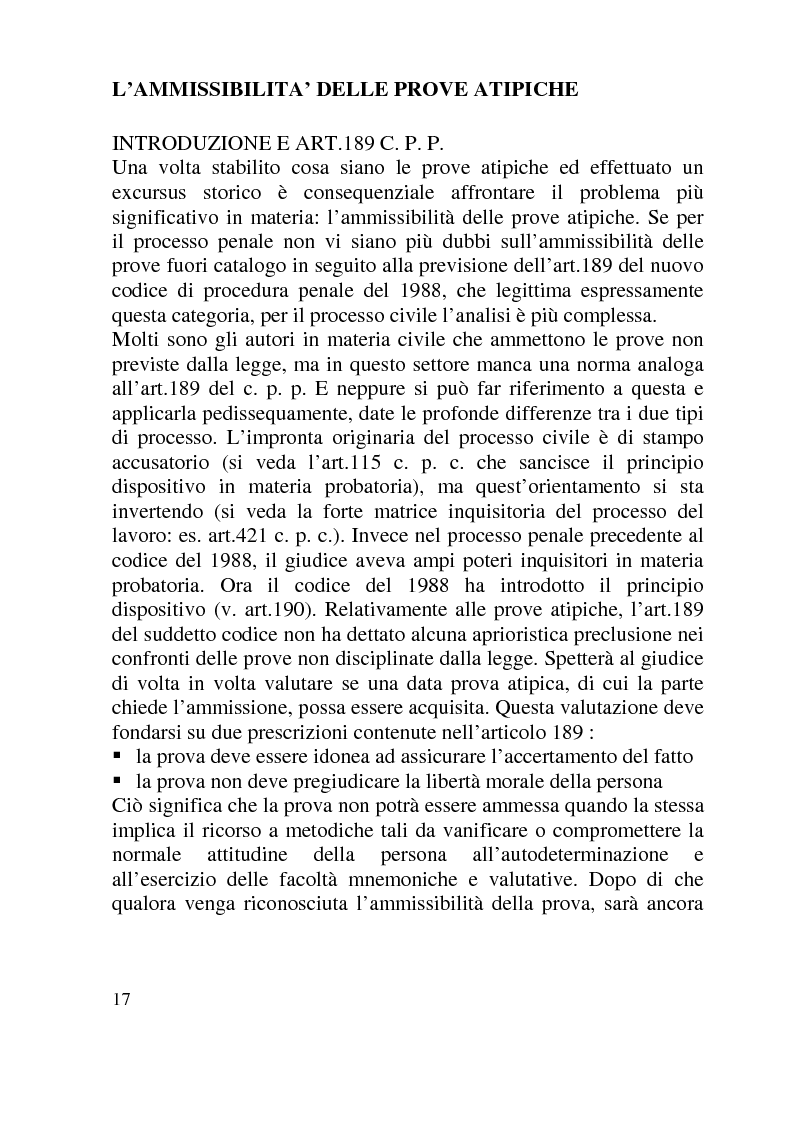 Anteprima della tesi: Ammissibilità ed efficacia probatoria dei nuovi mezzi di indagine processuale imposti dal progresso scientifico, Pagina 12