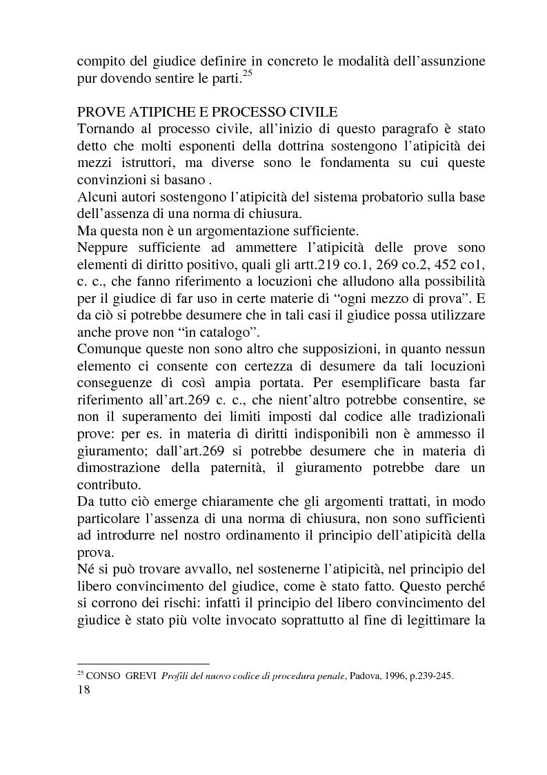 Anteprima della tesi: Ammissibilità ed efficacia probatoria dei nuovi mezzi di indagine processuale imposti dal progresso scientifico, Pagina 13
