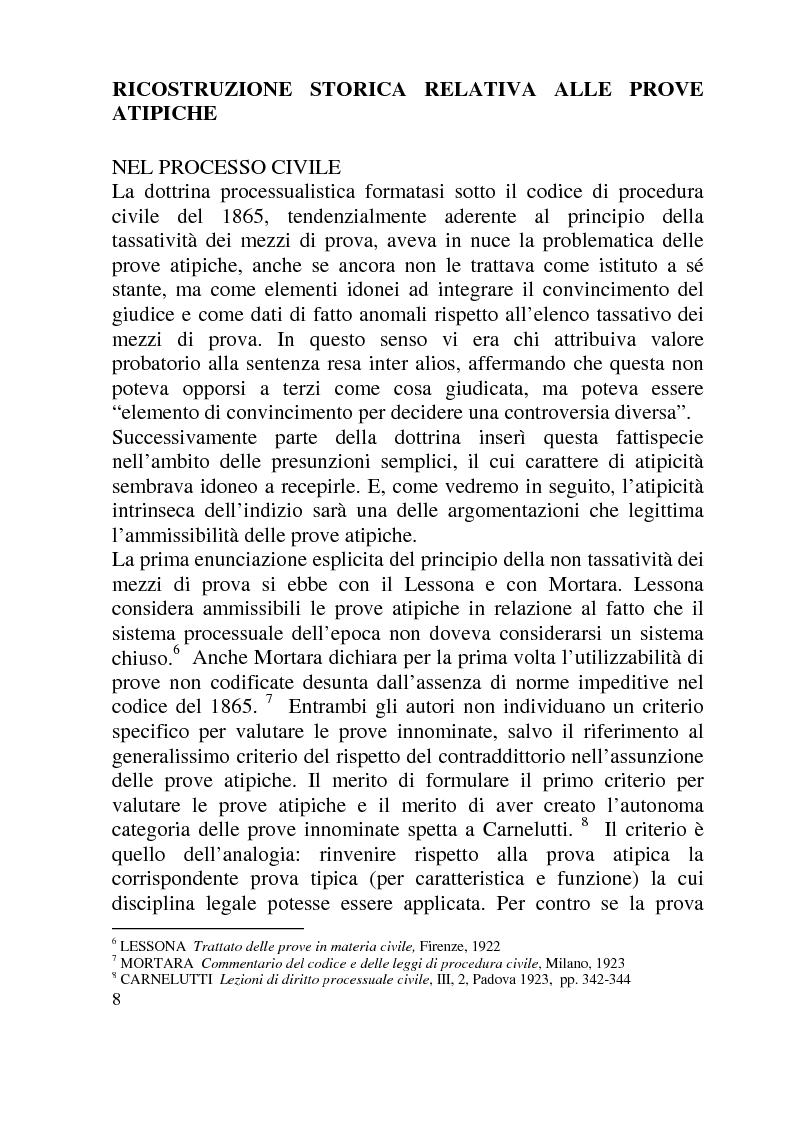 Anteprima della tesi: Ammissibilità ed efficacia probatoria dei nuovi mezzi di indagine processuale imposti dal progresso scientifico, Pagina 3