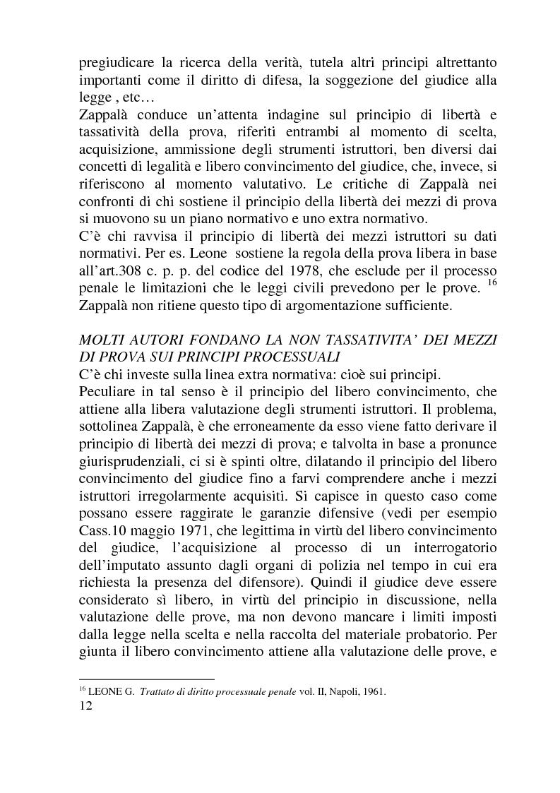 Anteprima della tesi: Ammissibilità ed efficacia probatoria dei nuovi mezzi di indagine processuale imposti dal progresso scientifico, Pagina 7