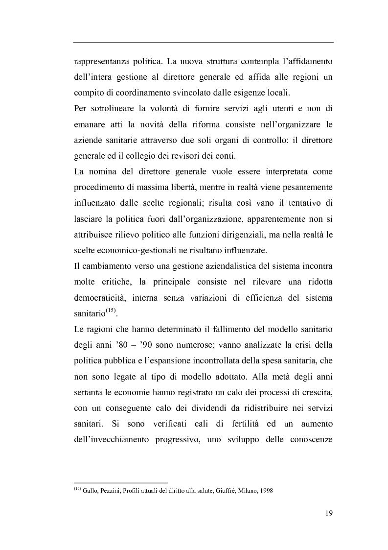 Anteprima della tesi: Il Direttore Generale dell'azienda sanitaria, Pagina 13