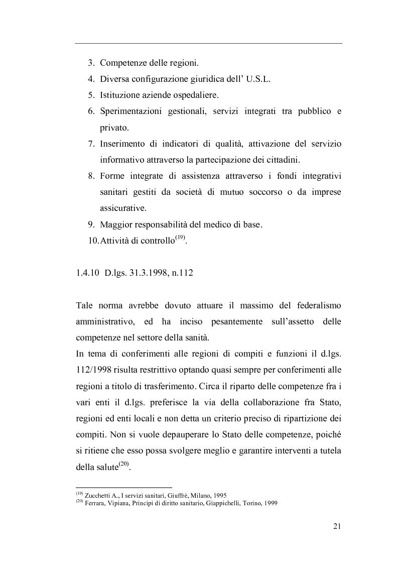 Anteprima della tesi: Il Direttore Generale dell'azienda sanitaria, Pagina 15