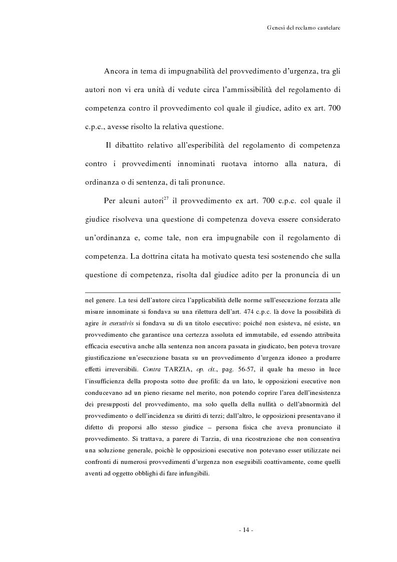 Anteprima della tesi: Il reclamo cautelare, Pagina 11