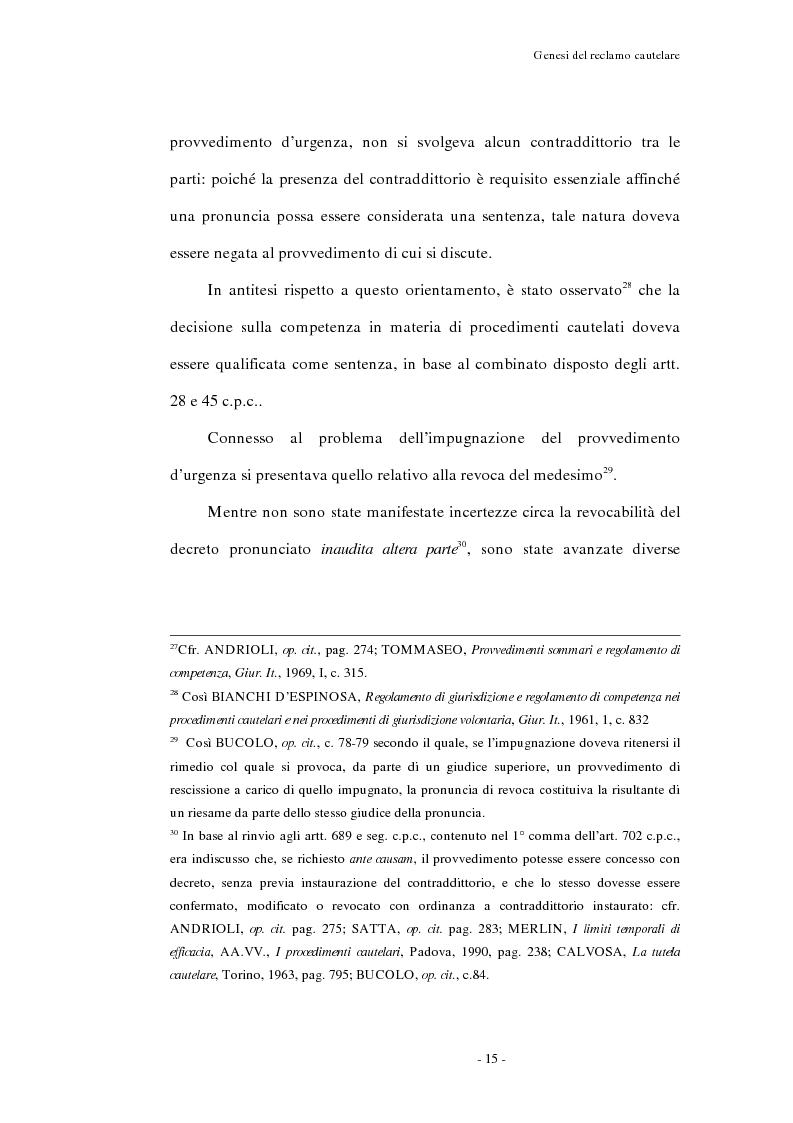 Anteprima della tesi: Il reclamo cautelare, Pagina 12