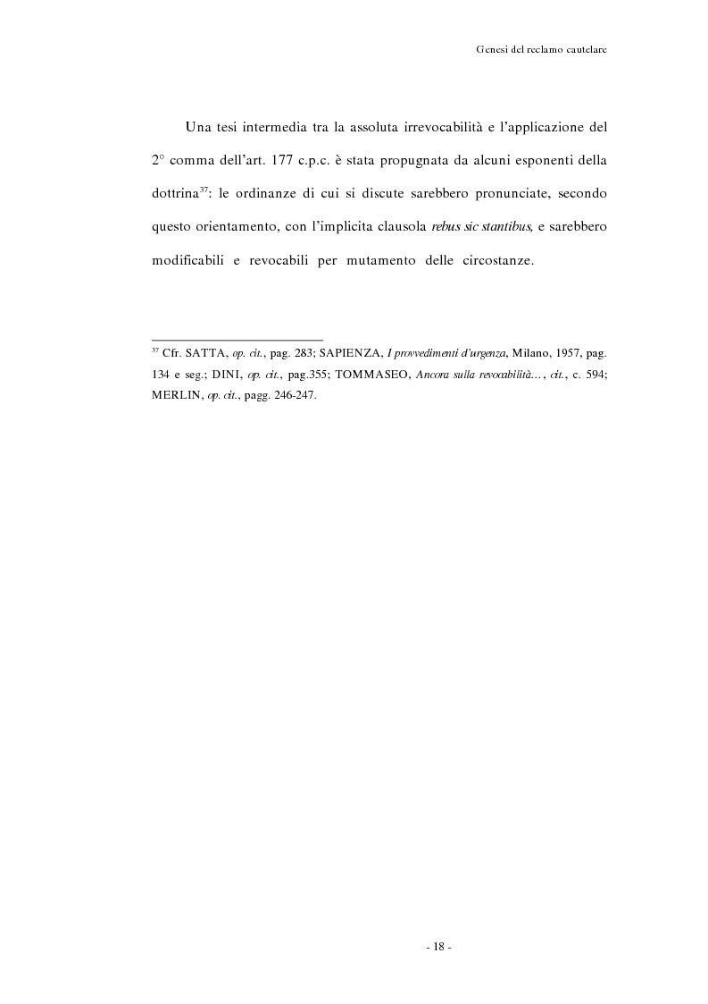 Anteprima della tesi: Il reclamo cautelare, Pagina 15