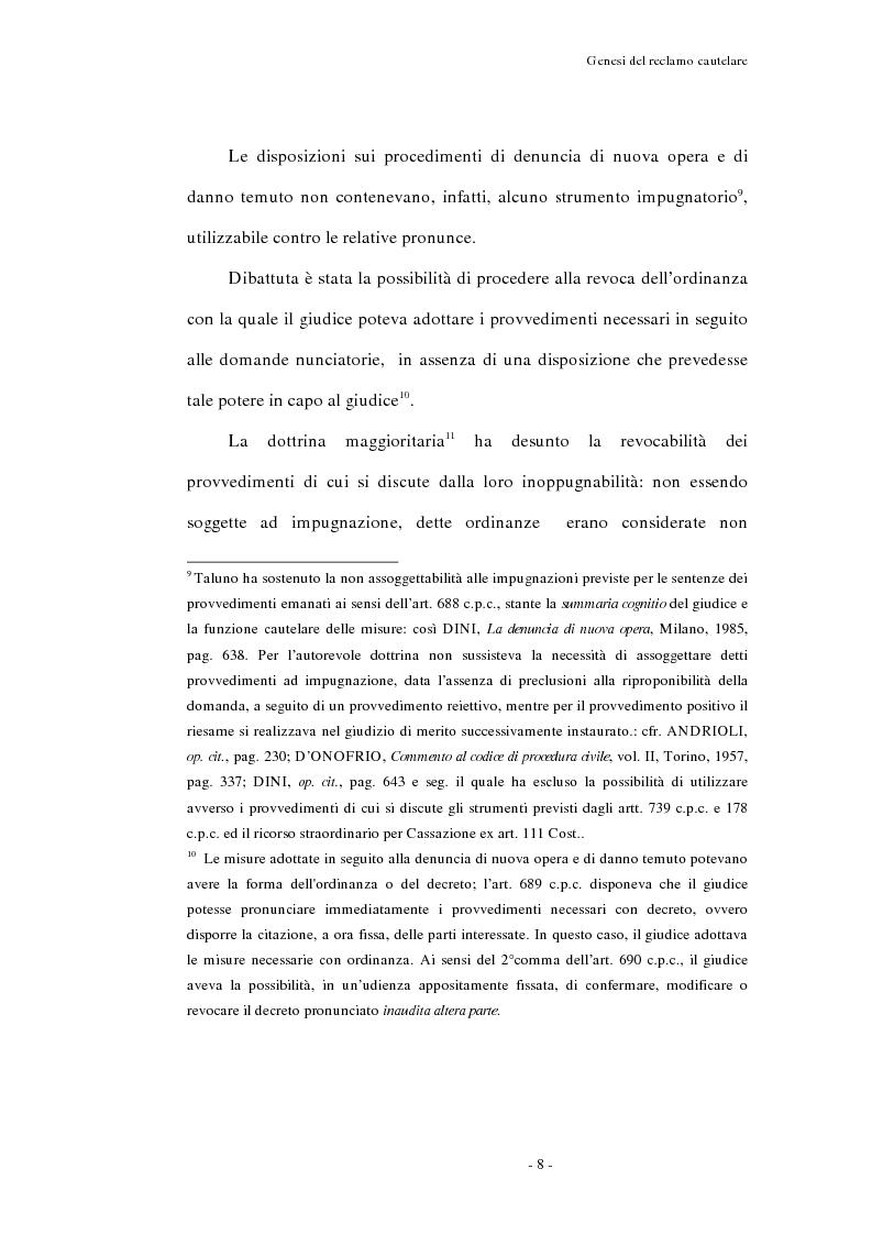Anteprima della tesi: Il reclamo cautelare, Pagina 5