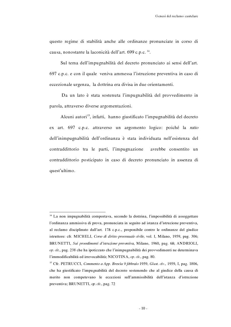 Anteprima della tesi: Il reclamo cautelare, Pagina 7