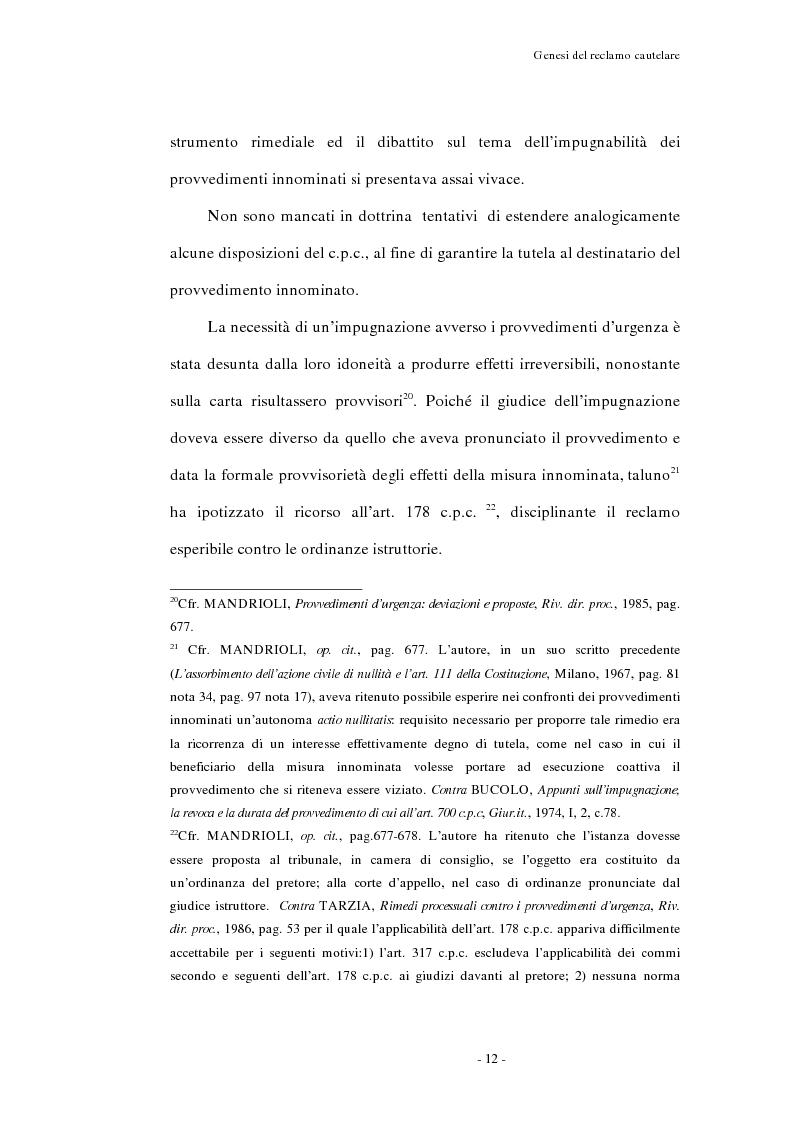 Anteprima della tesi: Il reclamo cautelare, Pagina 9