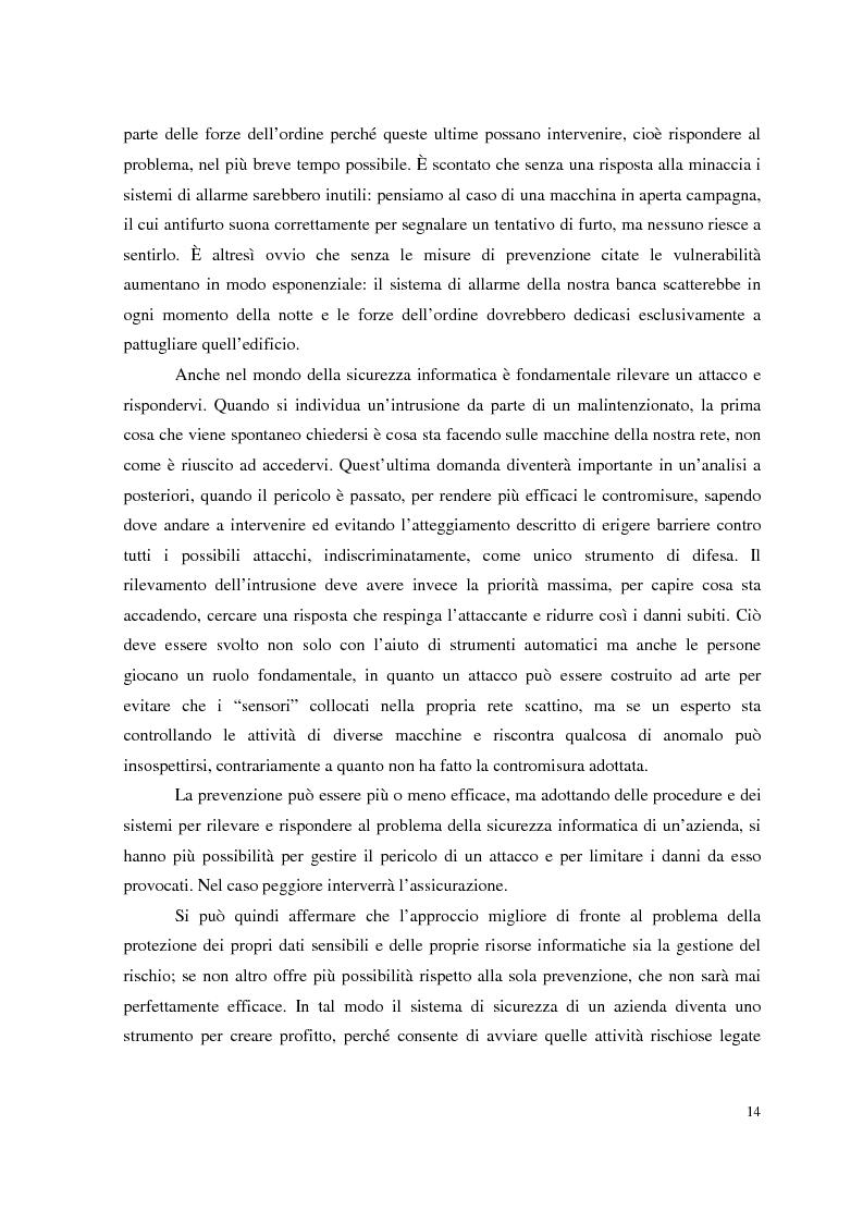 Anteprima della tesi: Managed Security Services: monitoring di una rete aziendale mediante tecnologie di log consolidation e correlazione degli eventi, Pagina 12