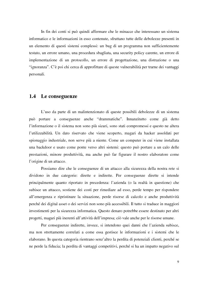 Anteprima della tesi: Managed Security Services: monitoring di una rete aziendale mediante tecnologie di log consolidation e correlazione degli eventi, Pagina 7