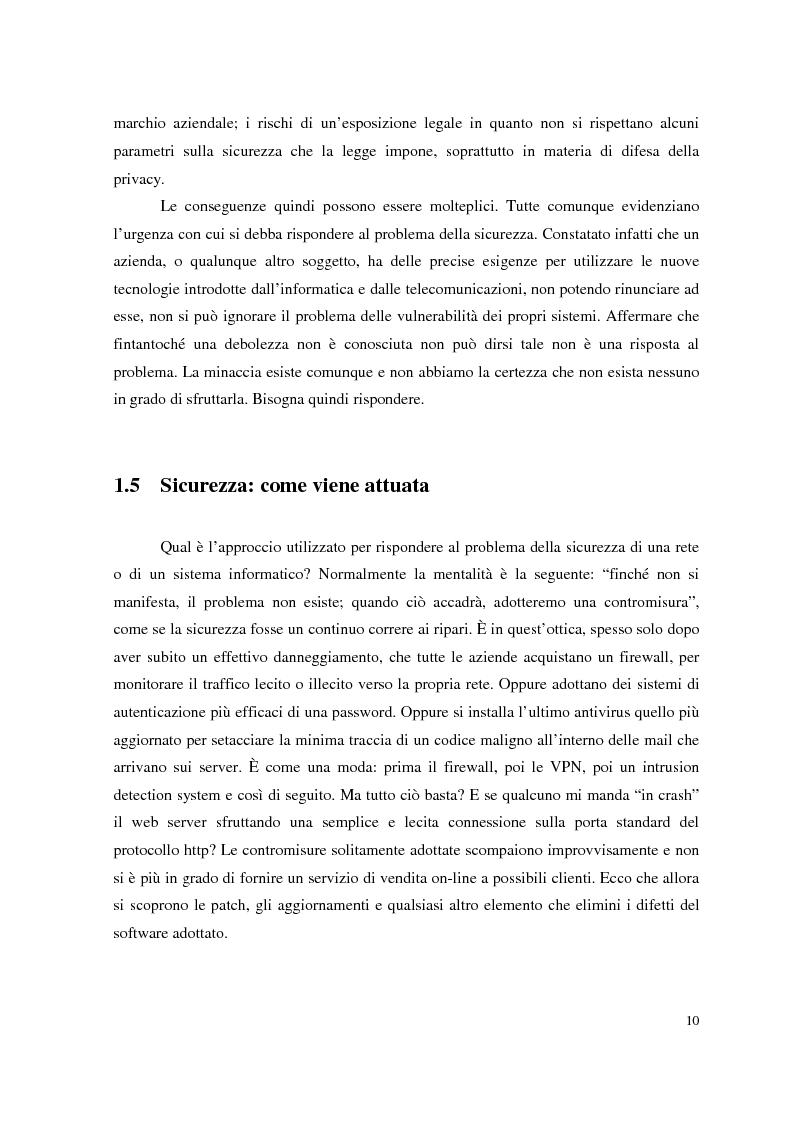 Anteprima della tesi: Managed Security Services: monitoring di una rete aziendale mediante tecnologie di log consolidation e correlazione degli eventi, Pagina 8