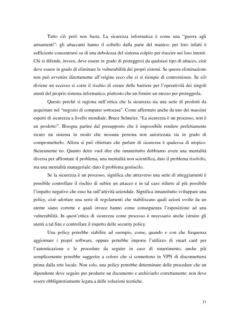 Anteprima della tesi: Managed Security Services: monitoring di una rete aziendale mediante tecnologie di log consolidation e correlazione degli eventi, Pagina 9
