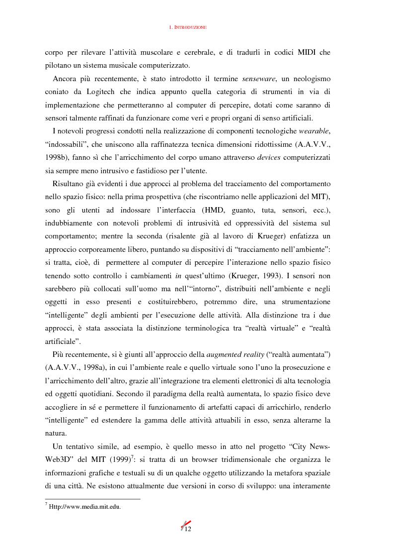 Anteprima della tesi: Lo spazio, l'informazione e l'arte: dinamiche di interazione, Pagina 12