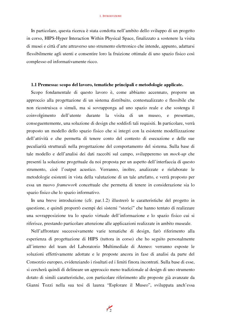 Anteprima della tesi: Lo spazio, l'informazione e l'arte: dinamiche di interazione, Pagina 2