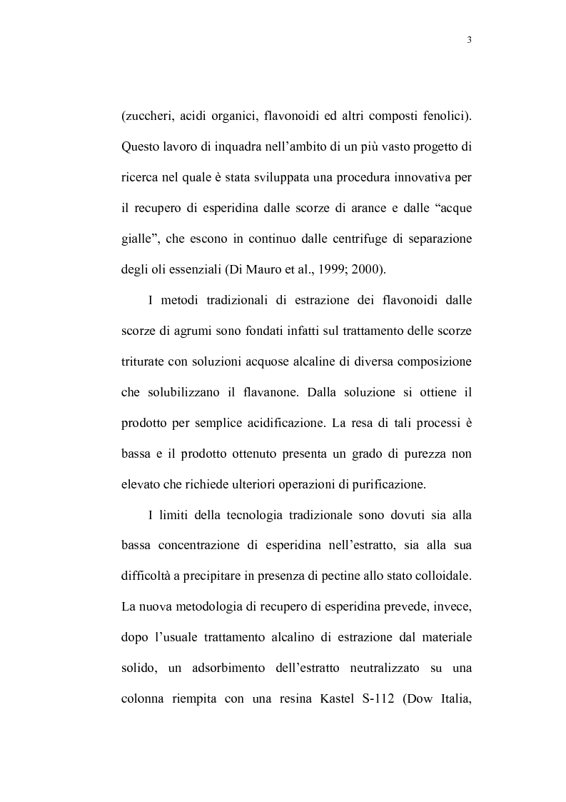 Anteprima della tesi: Recupero di antocianine da pulp wash di arance pigmentate mediante adsorbimento su resine, Pagina 3