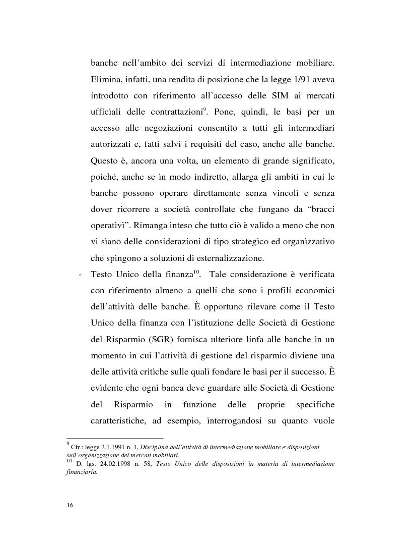 Anteprima della tesi: Banca virtuale e new economy: il caso MPSnet, Pagina 13
