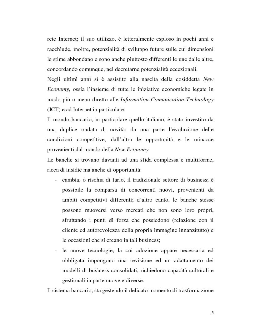 Anteprima della tesi: Banca virtuale e new economy: il caso MPSnet, Pagina 2