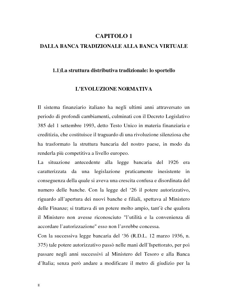 Anteprima della tesi: Banca virtuale e new economy: il caso MPSnet, Pagina 5