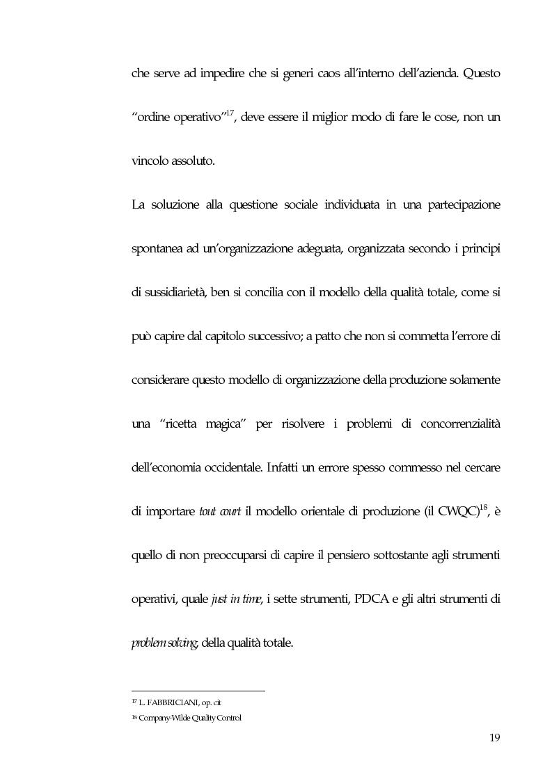 Anteprima della tesi: Qualità totale e rapporto di lavoro, Pagina 10