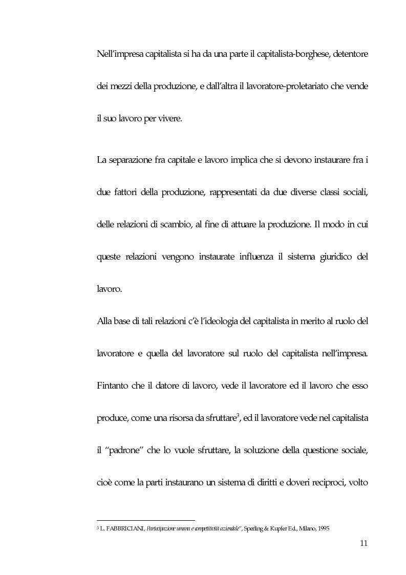 Anteprima della tesi: Qualità totale e rapporto di lavoro, Pagina 2