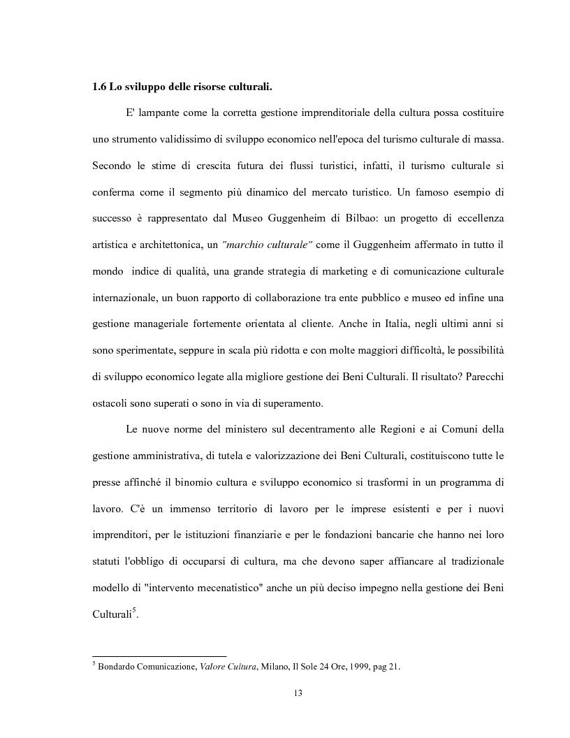 Anteprima della tesi: Le relazioni virtuose tra impresa & cultura: il caso Mandarina Duck, Pagina 13