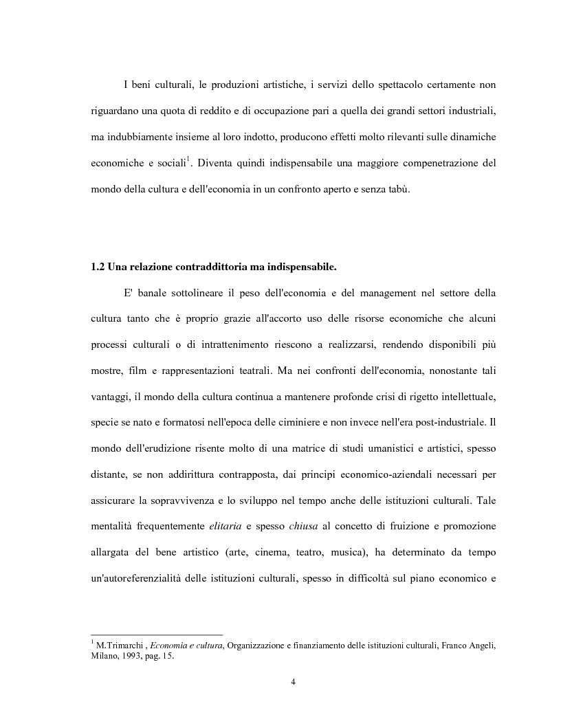 Anteprima della tesi: Le relazioni virtuose tra impresa & cultura: il caso Mandarina Duck, Pagina 4
