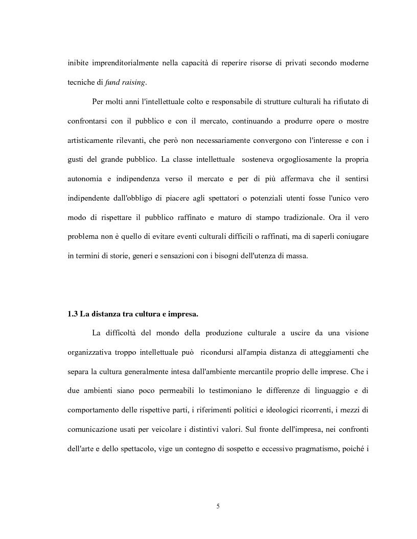 Anteprima della tesi: Le relazioni virtuose tra impresa & cultura: il caso Mandarina Duck, Pagina 5