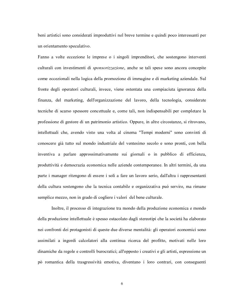 Anteprima della tesi: Le relazioni virtuose tra impresa & cultura: il caso Mandarina Duck, Pagina 6
