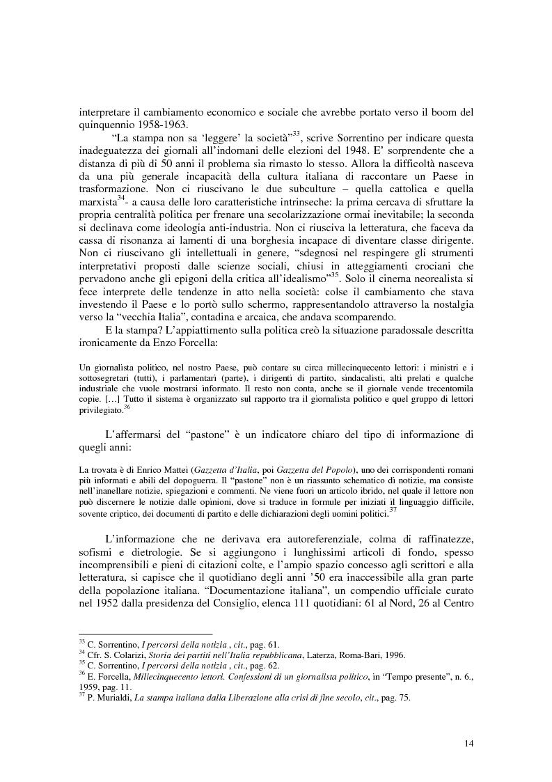 Anteprima della tesi: Manuale di sopravvivenza quotidiana. Giornali in Italia tra successo e insuccesso, Pagina 10