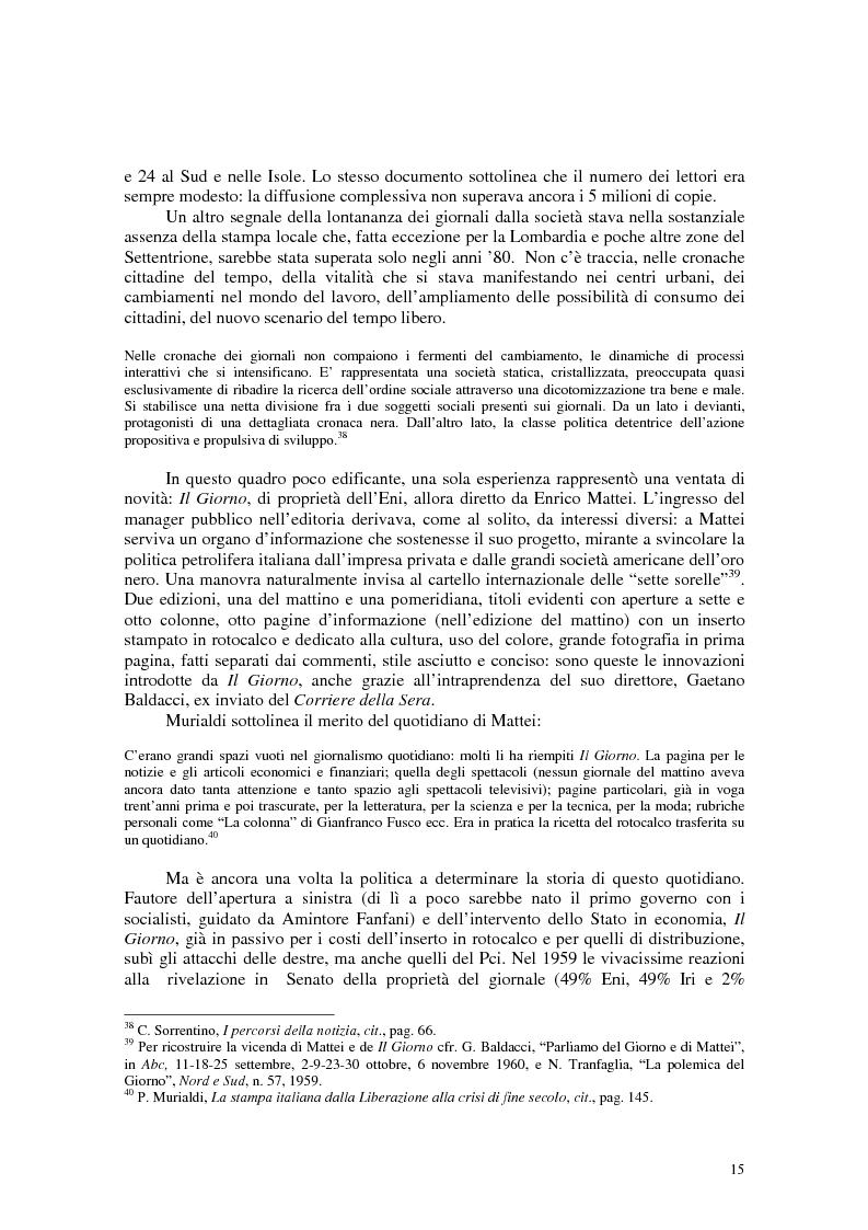Anteprima della tesi: Manuale di sopravvivenza quotidiana. Giornali in Italia tra successo e insuccesso, Pagina 11