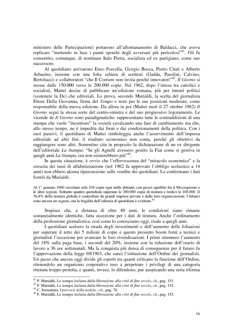 Anteprima della tesi: Manuale di sopravvivenza quotidiana. Giornali in Italia tra successo e insuccesso, Pagina 12