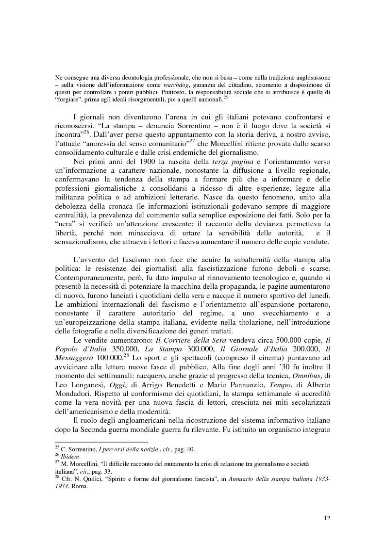 Anteprima della tesi: Manuale di sopravvivenza quotidiana. Giornali in Italia tra successo e insuccesso, Pagina 8