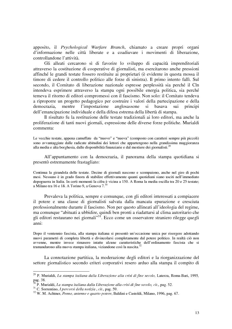 Anteprima della tesi: Manuale di sopravvivenza quotidiana. Giornali in Italia tra successo e insuccesso, Pagina 9