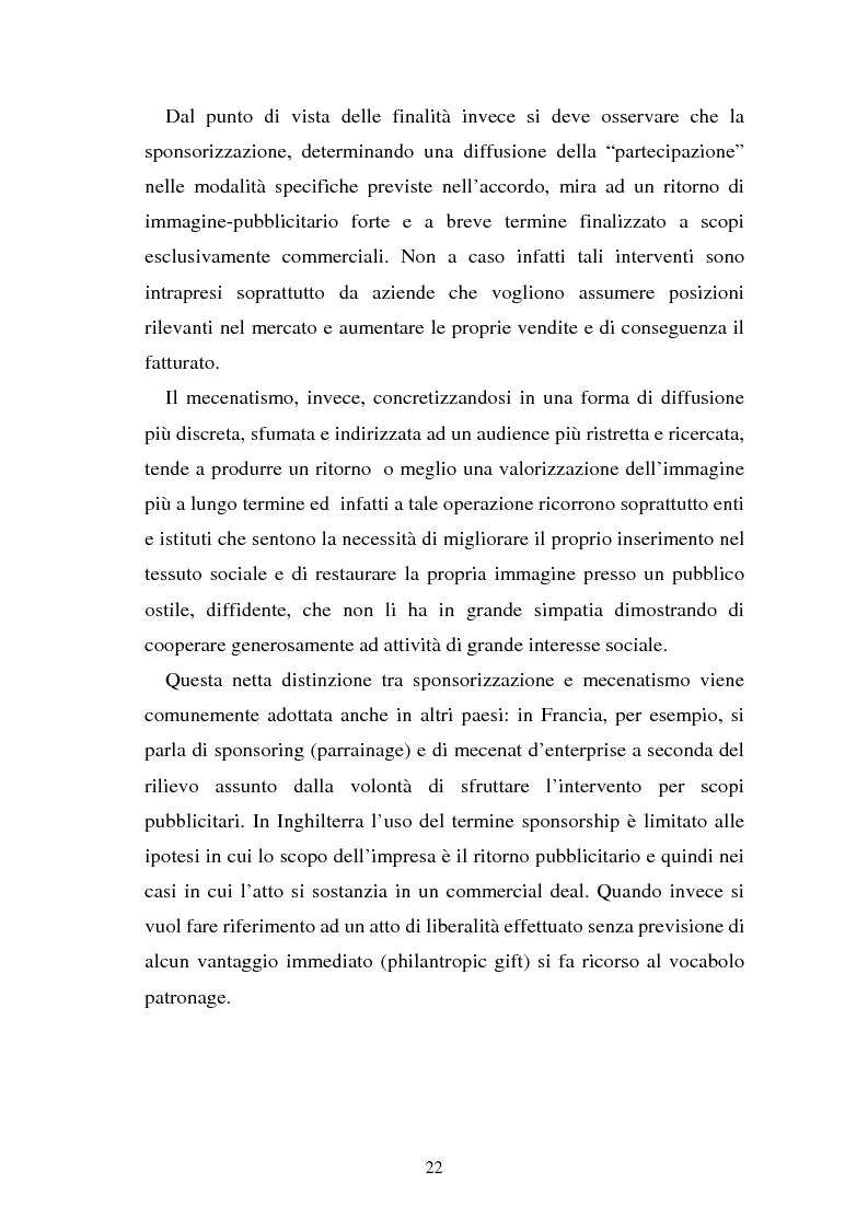 Anteprima della tesi: Sponsorizzazione e cessione d'immagine in ambito sportivo. Aspetti civilistici e profili di comparazione, Pagina 15
