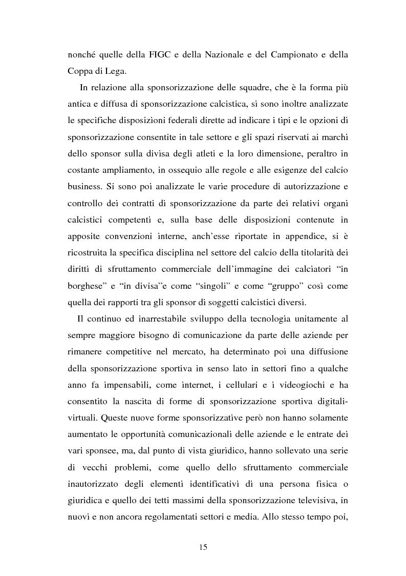 Anteprima della tesi: Sponsorizzazione e cessione d'immagine in ambito sportivo. Aspetti civilistici e profili di comparazione, Pagina 8