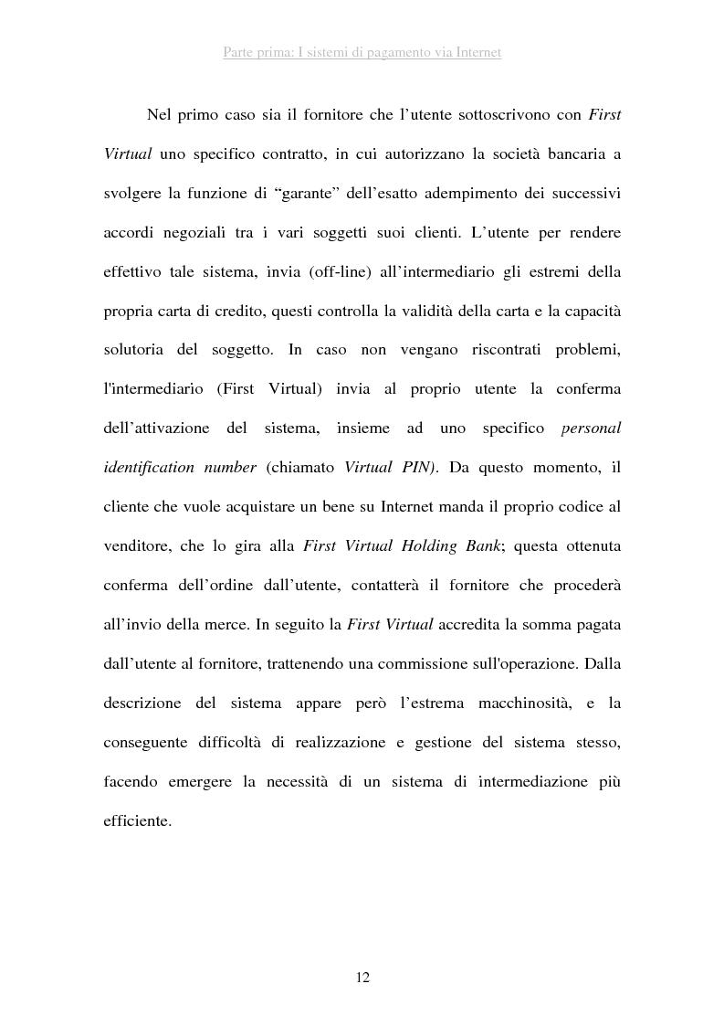 Anteprima della tesi: I sistemi di pagamento via Internet: il ruolo delle poste, Pagina 12