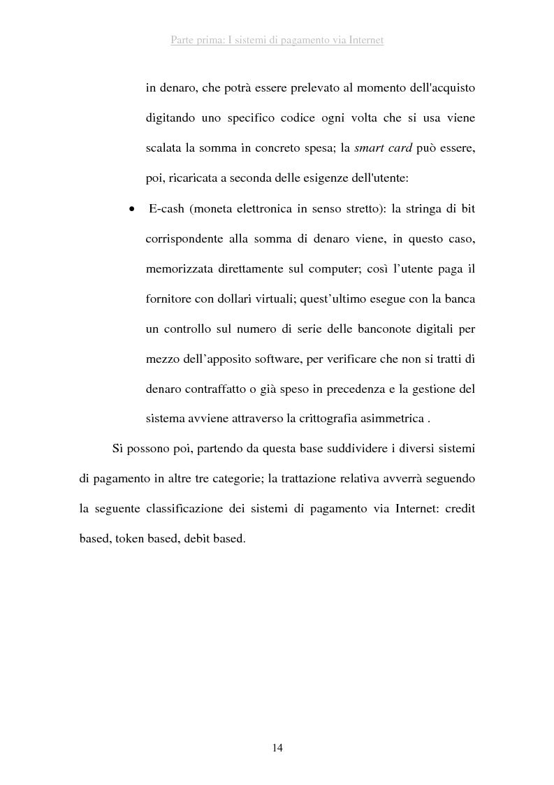 Anteprima della tesi: I sistemi di pagamento via Internet: il ruolo delle poste, Pagina 14