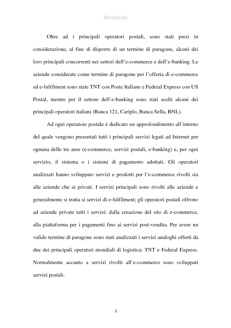 Anteprima della tesi: I sistemi di pagamento via Internet: il ruolo delle poste, Pagina 3