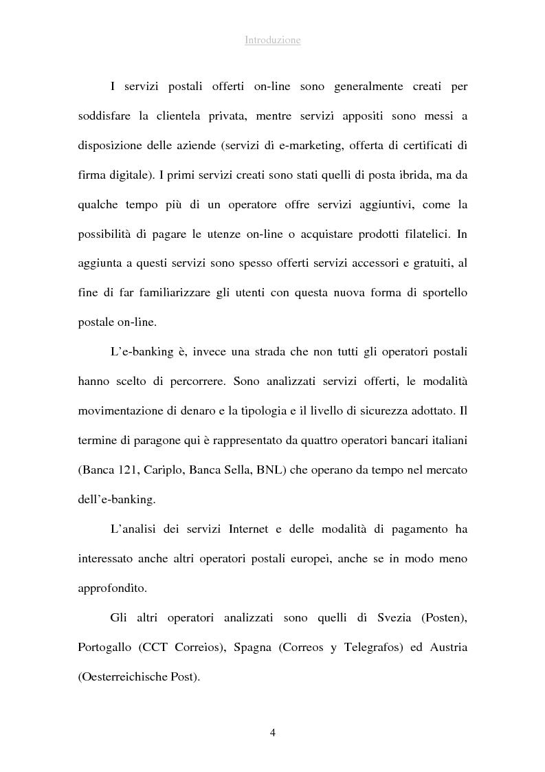 Anteprima della tesi: I sistemi di pagamento via Internet: il ruolo delle poste, Pagina 4
