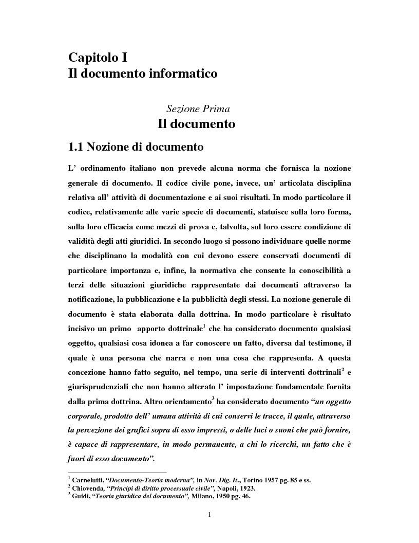 Anteprima della tesi: Il certificatore della chiave digitale, Pagina 1